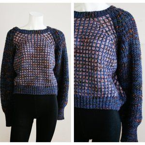 Moth  Chunky Knit Ribbed Waffle Knit Sweater